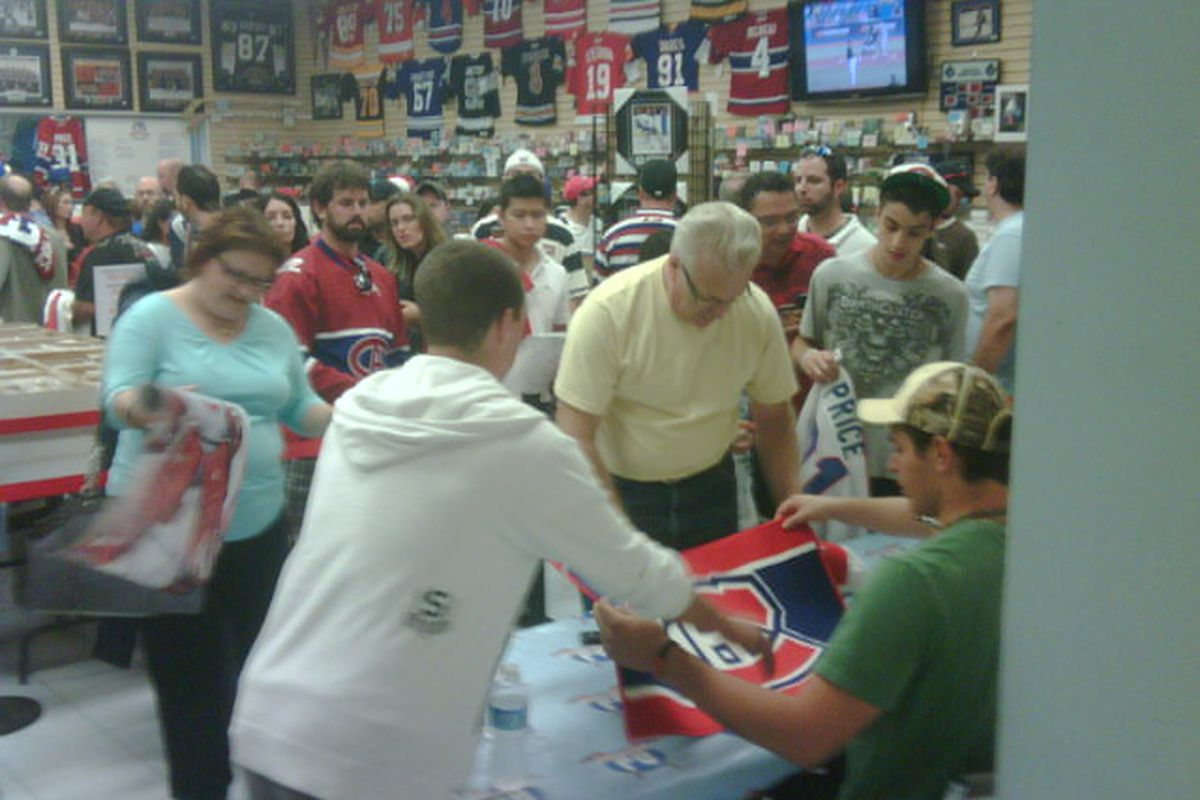 Fans lined up Friday night in Toronto to meet Montreal Canadiens goaltender Carey Price.
