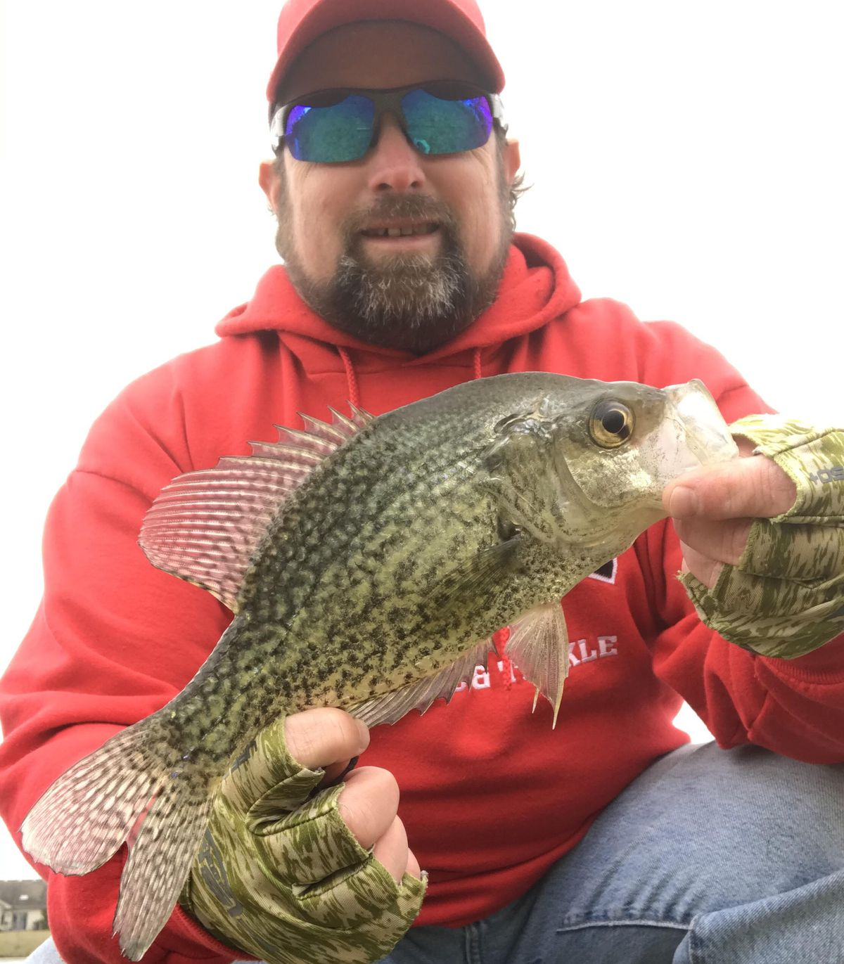 """Ken """"Husker"""" O'Malley with a crappie from the past week. Provided photo."""