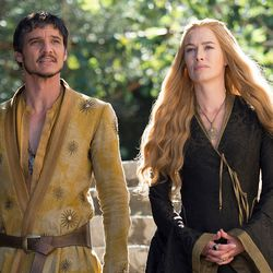 Season 4: Oberyn's hair looked much better before it was SPLATTERED ALL OVER THE GROUND. Unrelated: Loose waves suit Cersei.