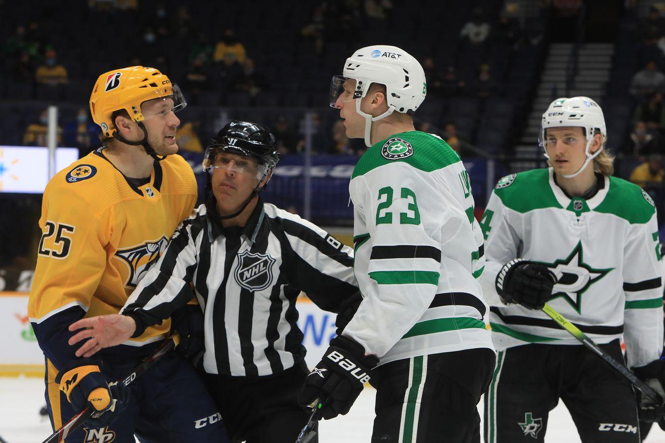 NHL: APR 01 Stars at Predators