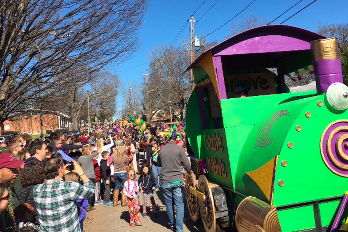 Lanta Gras's 2016 parade route passes Bessie Branham Park in Kirkwood.