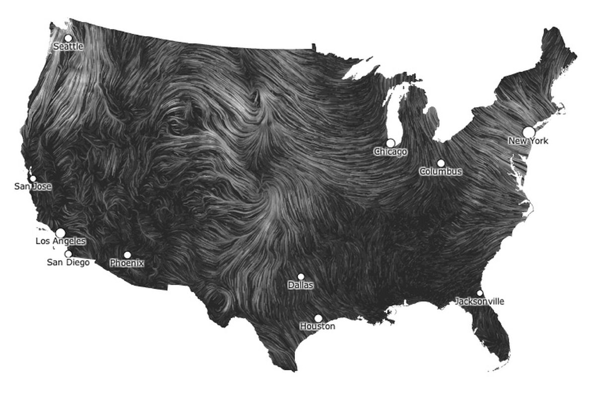 Stunning interactive map traces the course of the wind   The Verge