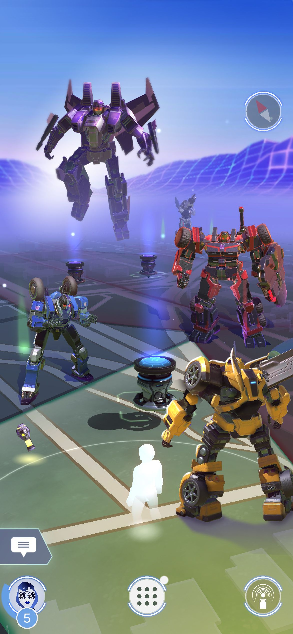 The world map of Transformers: Heavy Metal showing Bumblebee and various Decepticons