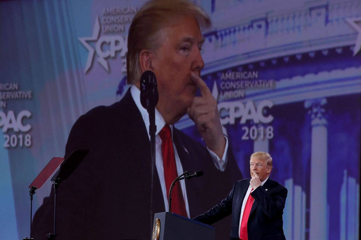 President Donald Trump Addresses Conservative Political Action Conference