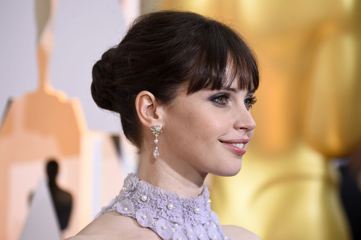Felicity Jones, seen here at this year's Academy Awards, will star in the new Star Wars standalone film Rogue One.