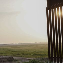 A section of the border wall that ends near McAllen, Texas, is pictured on Tuesday, June 22, 2021.