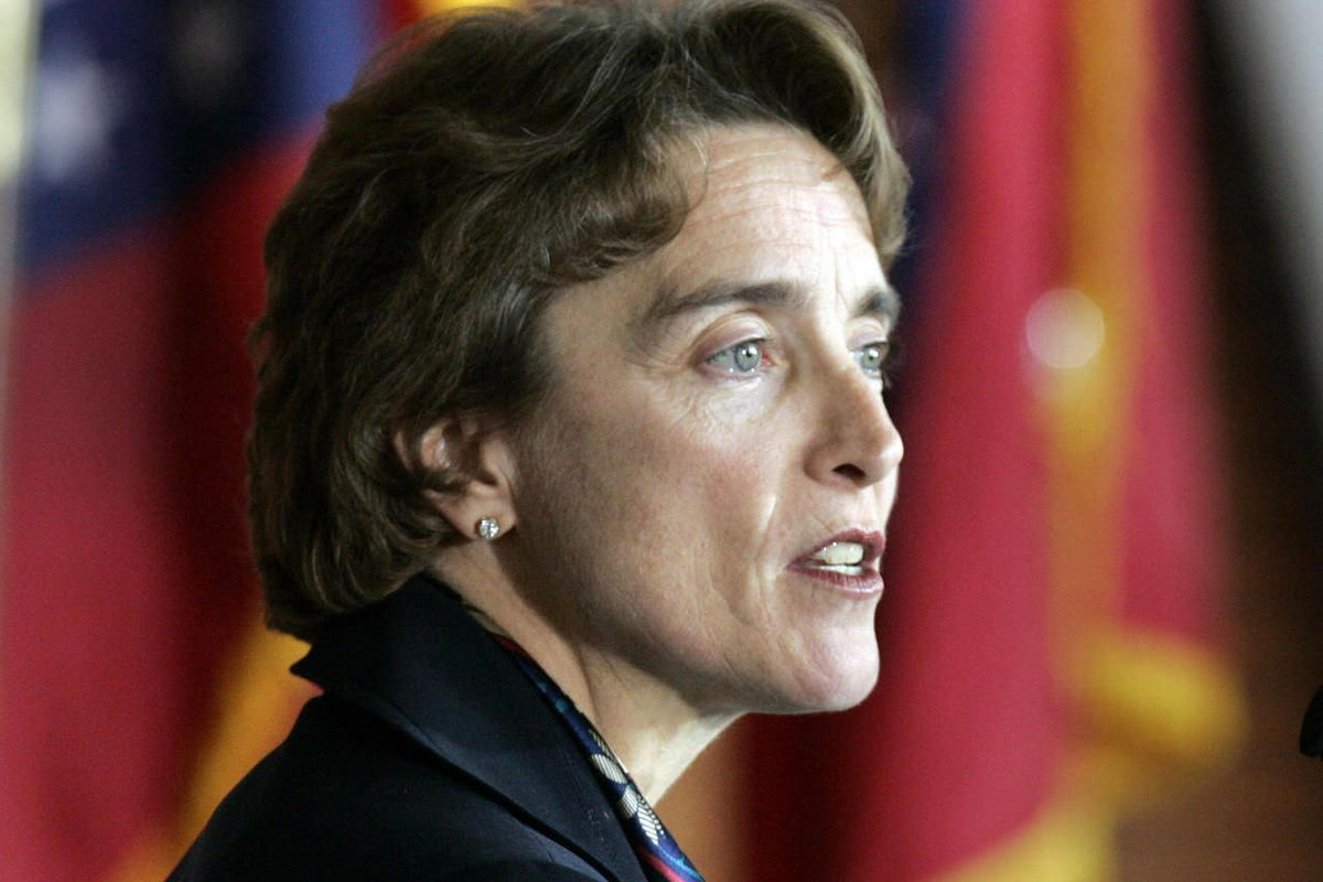 FILE - In this Nov. 23, 2009, file photo, then-Sen. Blanche Lincoln, D-Ark., speaks at a field hearing at the Clinton Presidential Library in Little Rock, Ark. The National Federation of Independent Business is endorsing Republicans over Democrats by a be