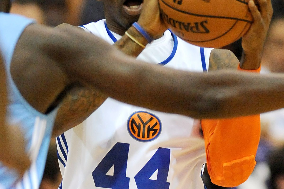 July 17, 2012; Las Vegas, NV, USA;  New York Knicks player Chris Smith (44) looks to pass the ball against the Denver Nuggets in the first half of the game at Cox Pavilion. Mandatory Credit: Jayne Kamin-Oncea-US PRESSWIRE