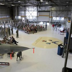 Hill Air Force Base's 34th fighter squadron is inactivated at a ceremony at Hill.  Friday, July 16, 2010.