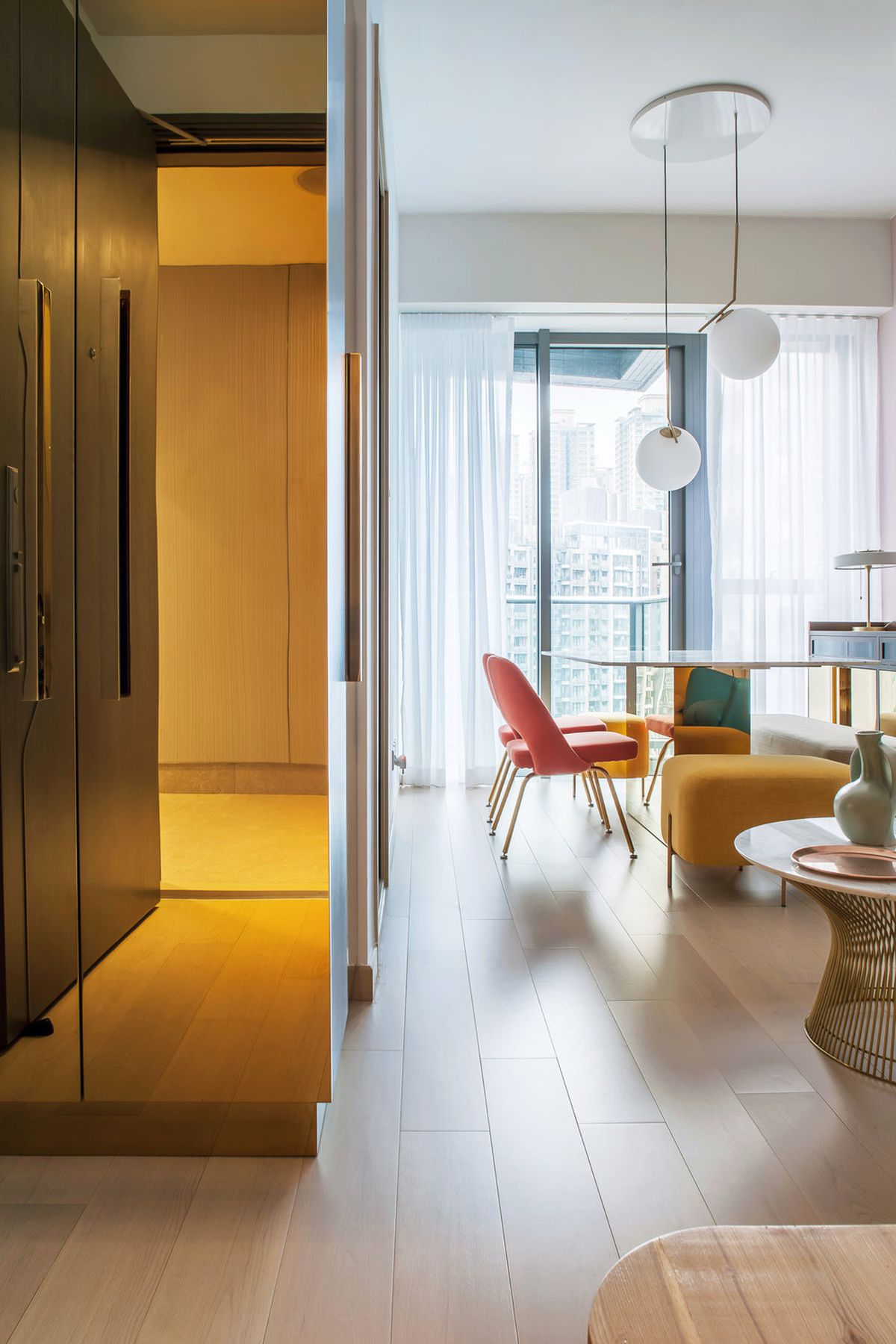 apartment designers. \u201cFrom Walls To Furniture Small Accessories, The Palette Of Apartment Is A Juxtaposition Colours And Textures,\u201d Write Designers. Designers