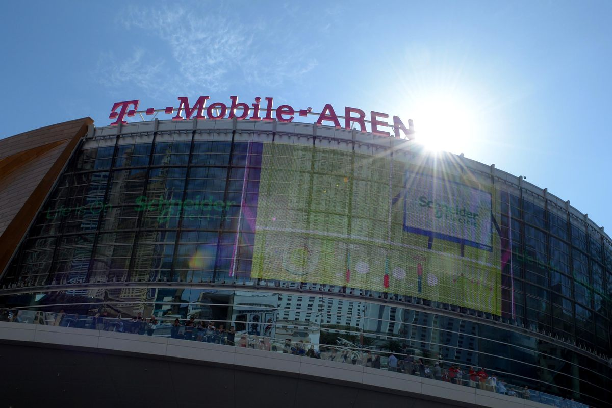 A general view of T-Mobile Arena before game five of the 2018 Stanley Cup Final between the Washington Capitals and the Vegas Golden Knights.