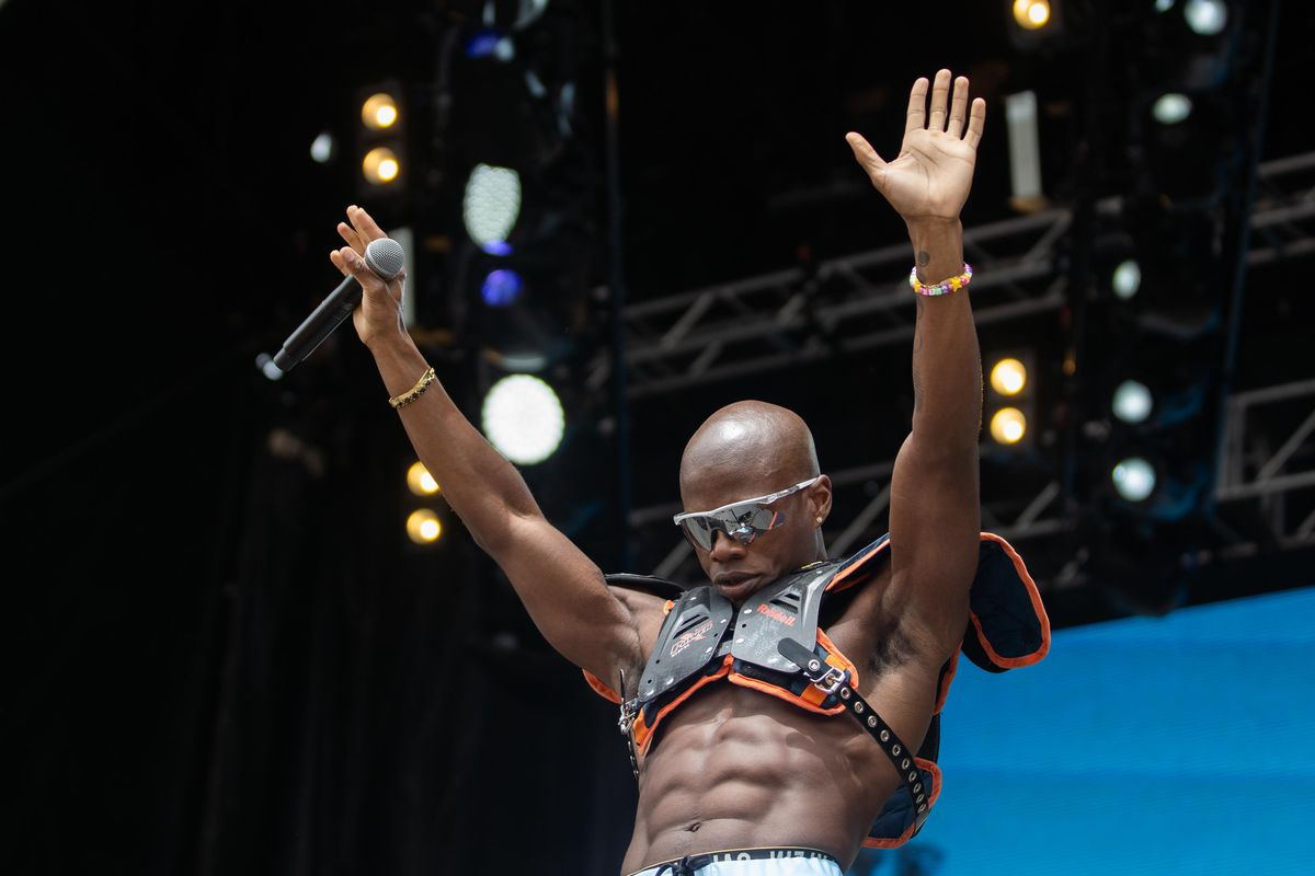 Tobi Lou performs on the second day of Lollapalooza.