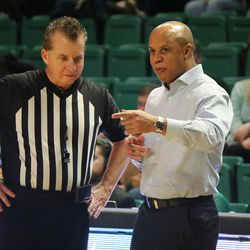 Rob Murphy talking with one of the refs.