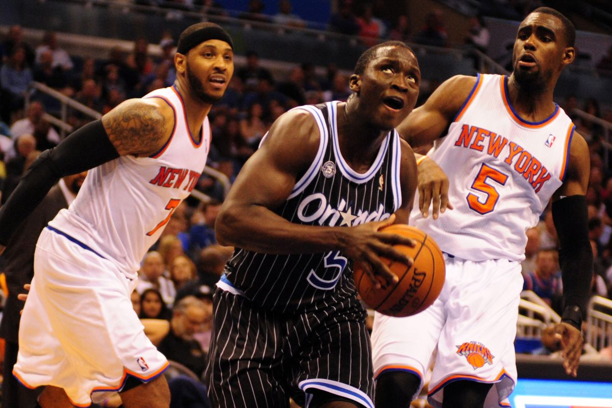 Carmelo Anthony, Victor Oladipo, and Tim Hardaway Jr.