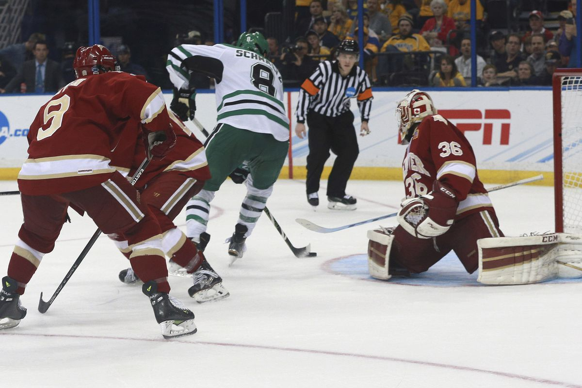 Trevor Moore at the Frozen Four.