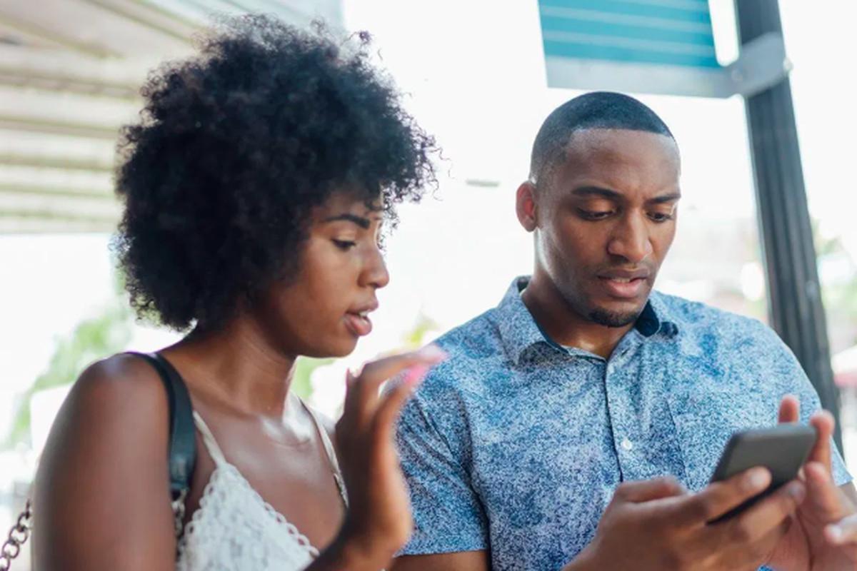 Black people on phone