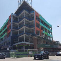 Northwest corner of plaza building from Clark & Waveland -