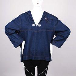 A vintage Jean Paul Gaultier denim sailor top. Buy it now for $250.