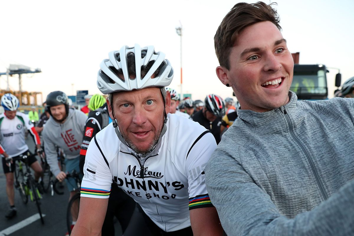 Lance Armstrong Rides With Auckland Locals