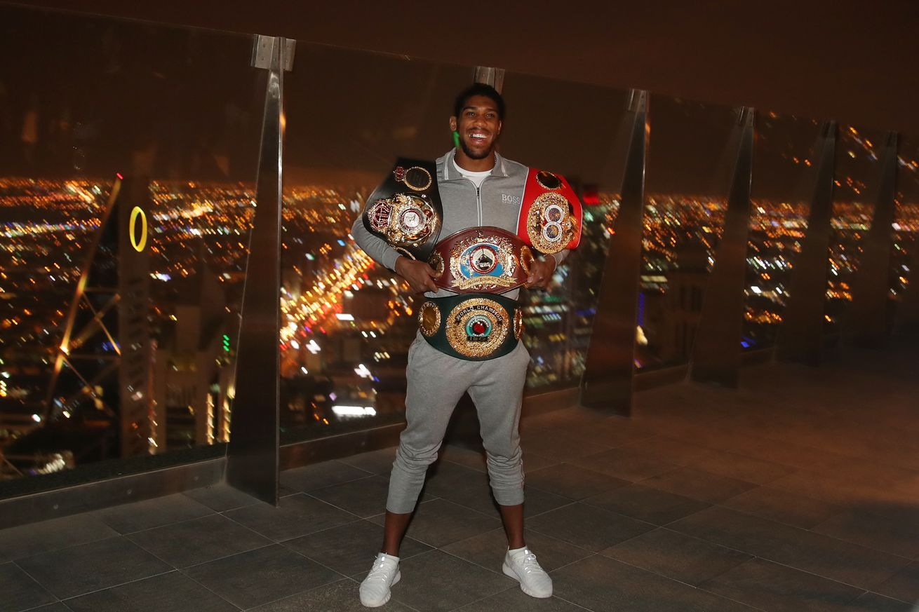Anthony Joshua photocall - Al Faisaliah Centre