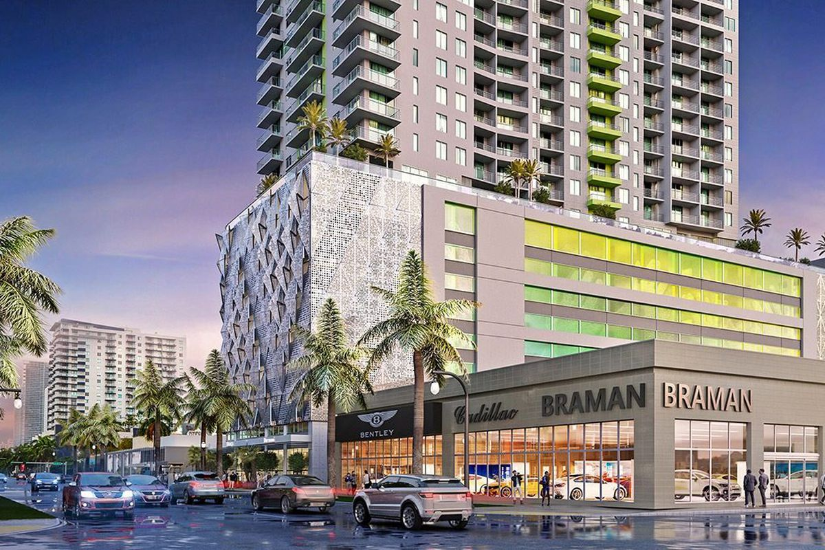Rendering of a rental tower at 2000 Biscayne