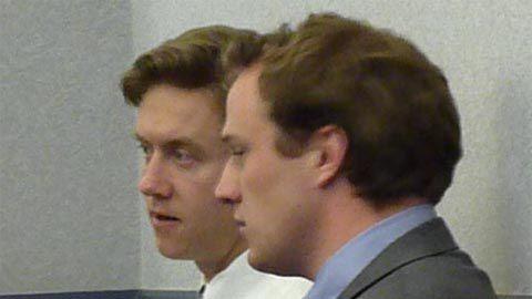 Sen. Mike Johnston, D-Denver, and aide Greg Carter