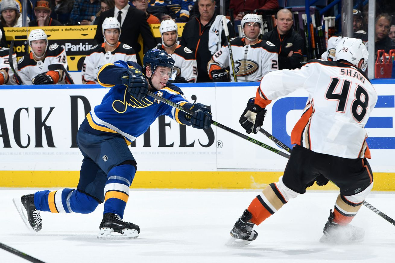 Anaheim Ducks v St Louis Blues