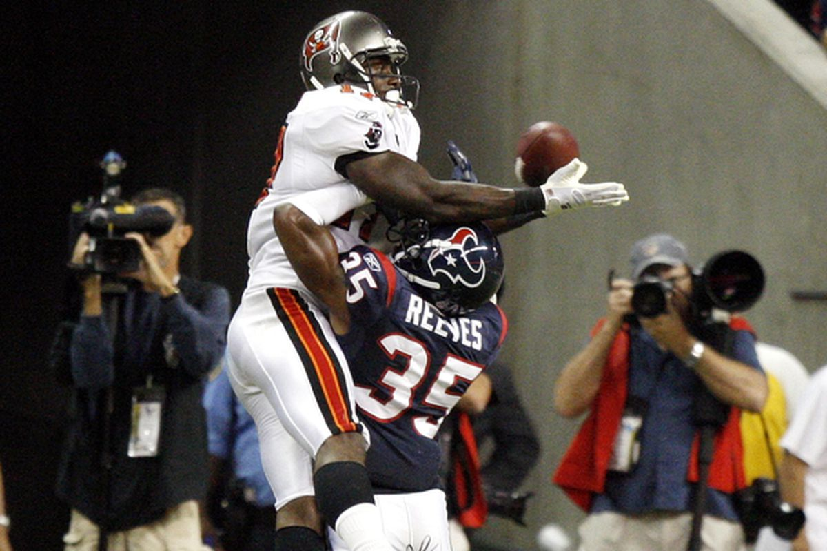 Spoiler Alert:  Jacques Reeves (35) does not prevent this touchdown pass.