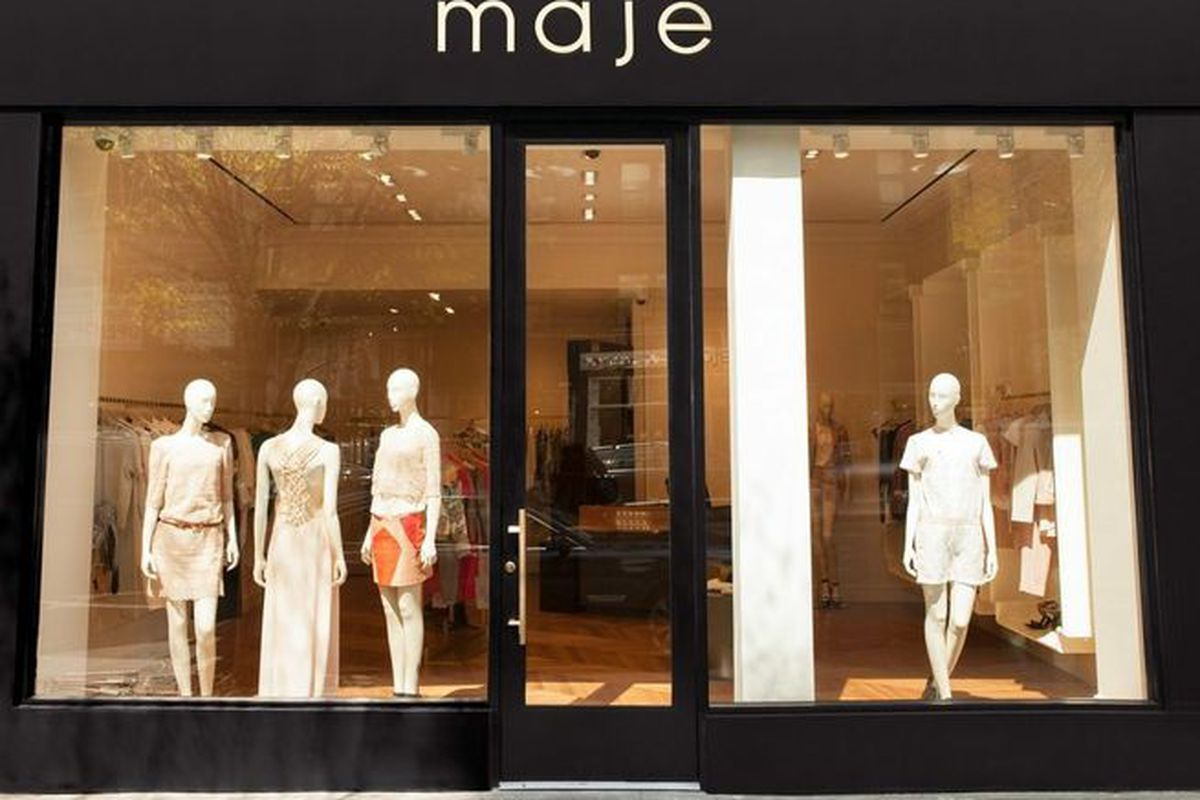 """Maje New York <a href=""""http://ny.racked.com/archives/2013/04/30/maje_says_bonjour_to_madison_avenue_with_a_light_air_boutique.php#517ff530f92ea129f2003d26"""">Racked NY</a>"""