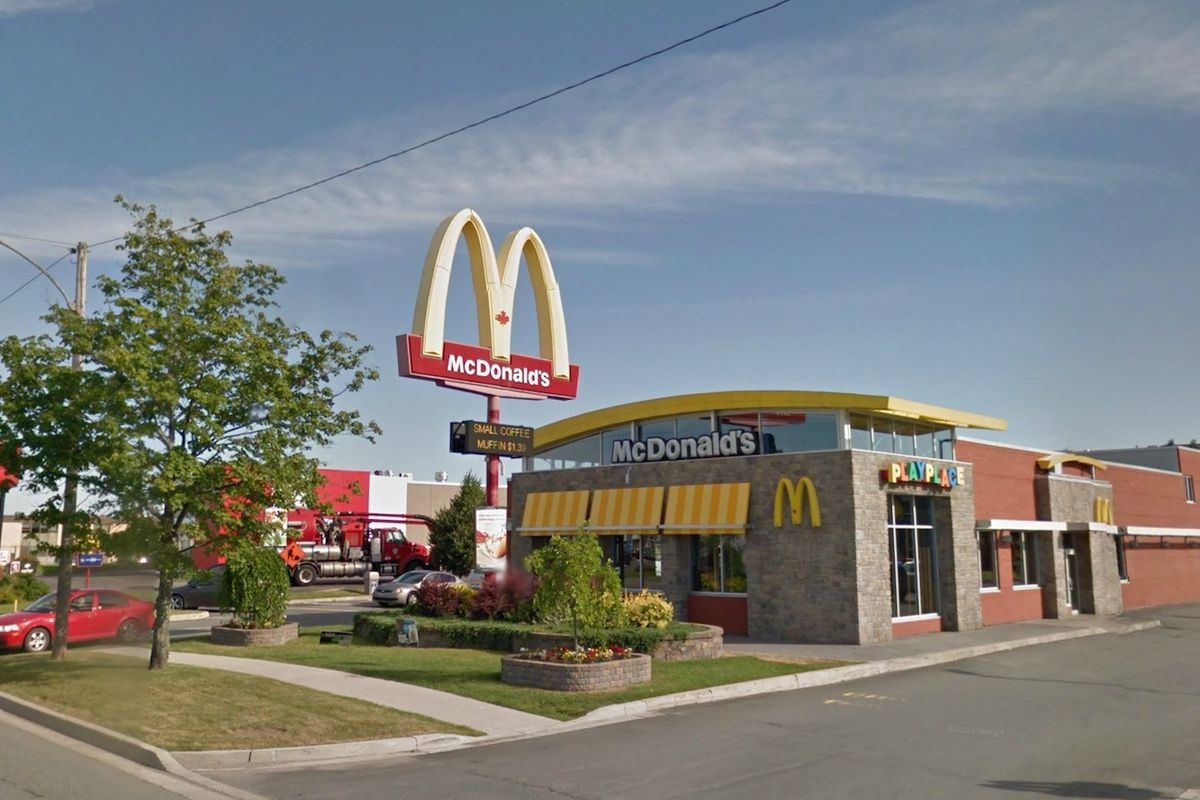 The McDonald's in question at 1177 Prospect Street, Fredericton, N.B.