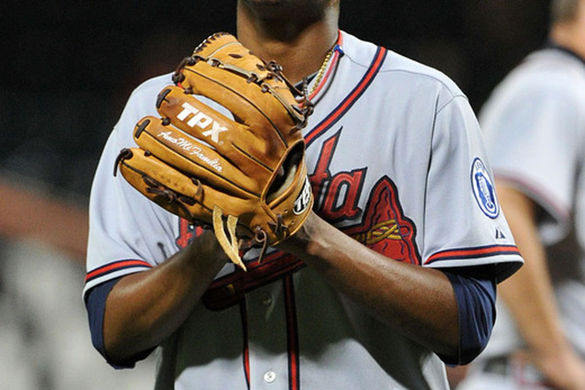 Julio Teheran of the Atlanta Braves (Photo by Christopher Pasatieri/Getty Images)