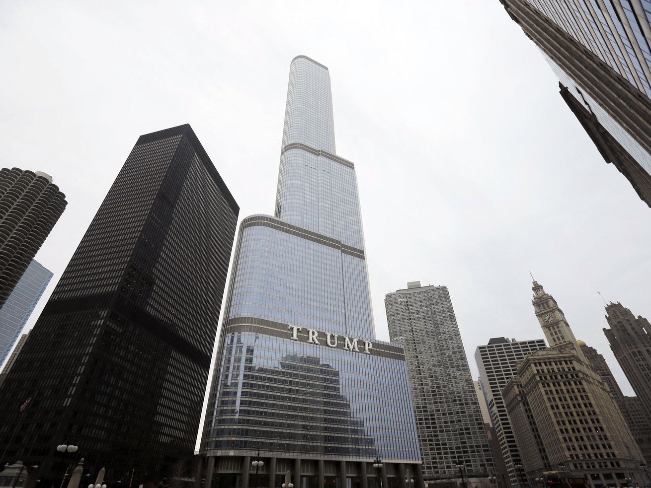 This Thursday, March 10, 2016 file photo shows the Trump International Hotel and Tower in Chicago. During the four years of Donald Trump's presidency, prices for condos in the building have dropped, down 34%, according to Gail Lissner, a managing director of consultancy Integra Realty Resources. That compares to a 6% drop in the same period for 65 other condo buildings downtown.