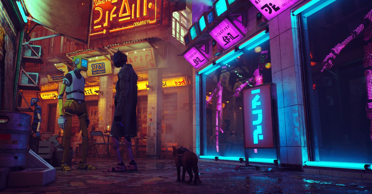 Cyberpunk cat game Stray comes to PS4, PS5, and PC in early 2022