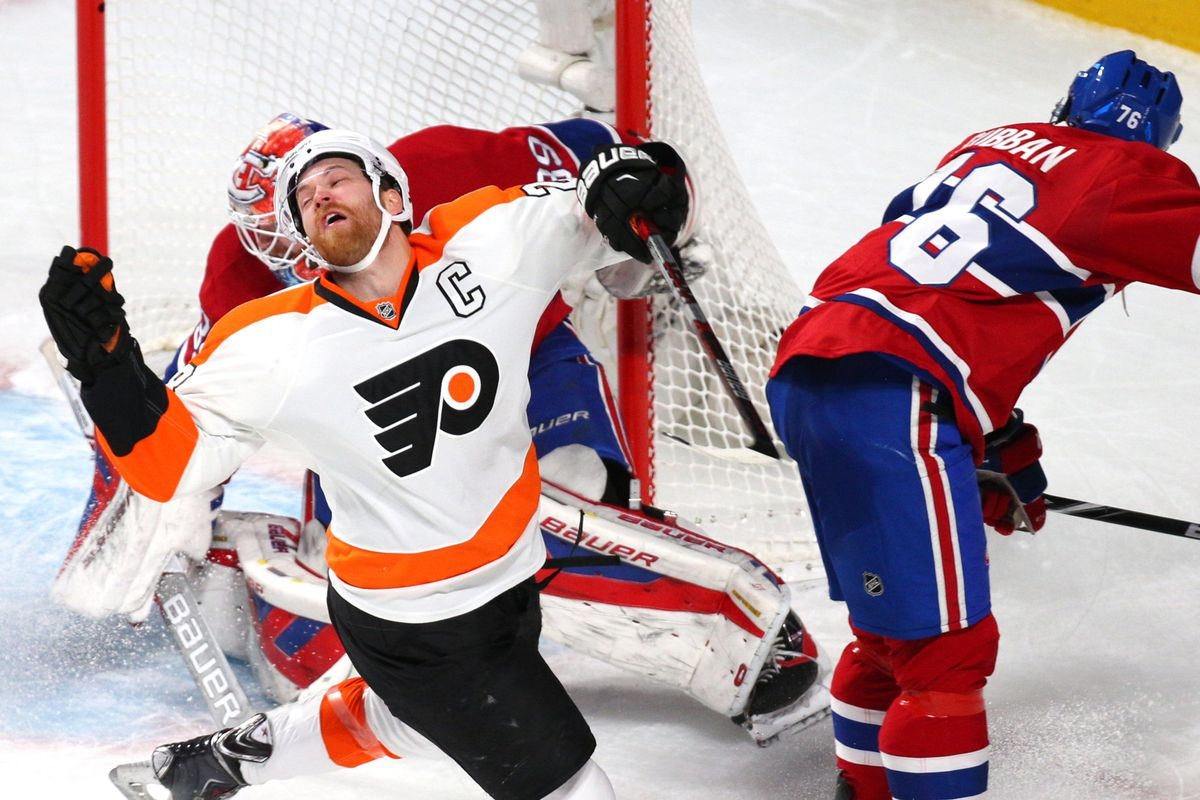 Was this the hit that Claude Giroux was injured on?