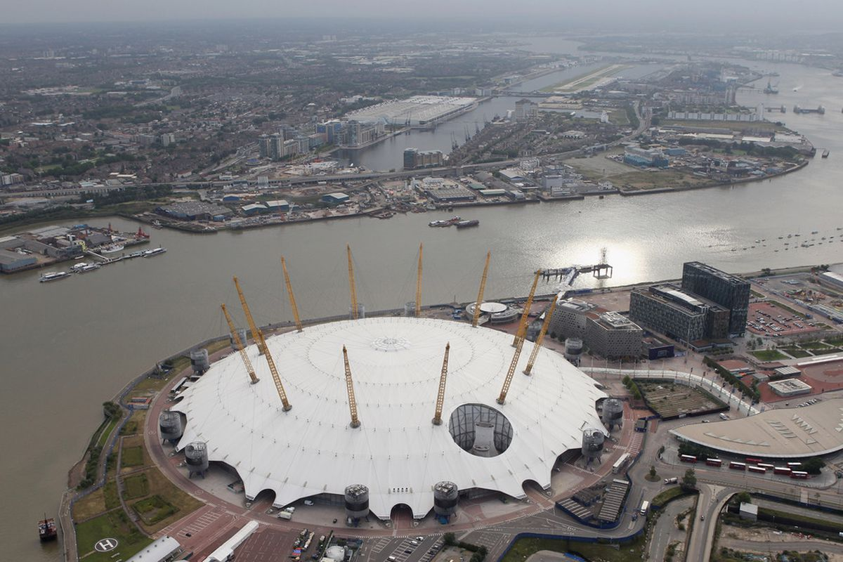 North Greenwich Arena will be the site of much of the basketball action during the 2012 London Olympics, including the women's gold-medal game on Aug. 11. (Photo by Tom Shaw/Getty Images)