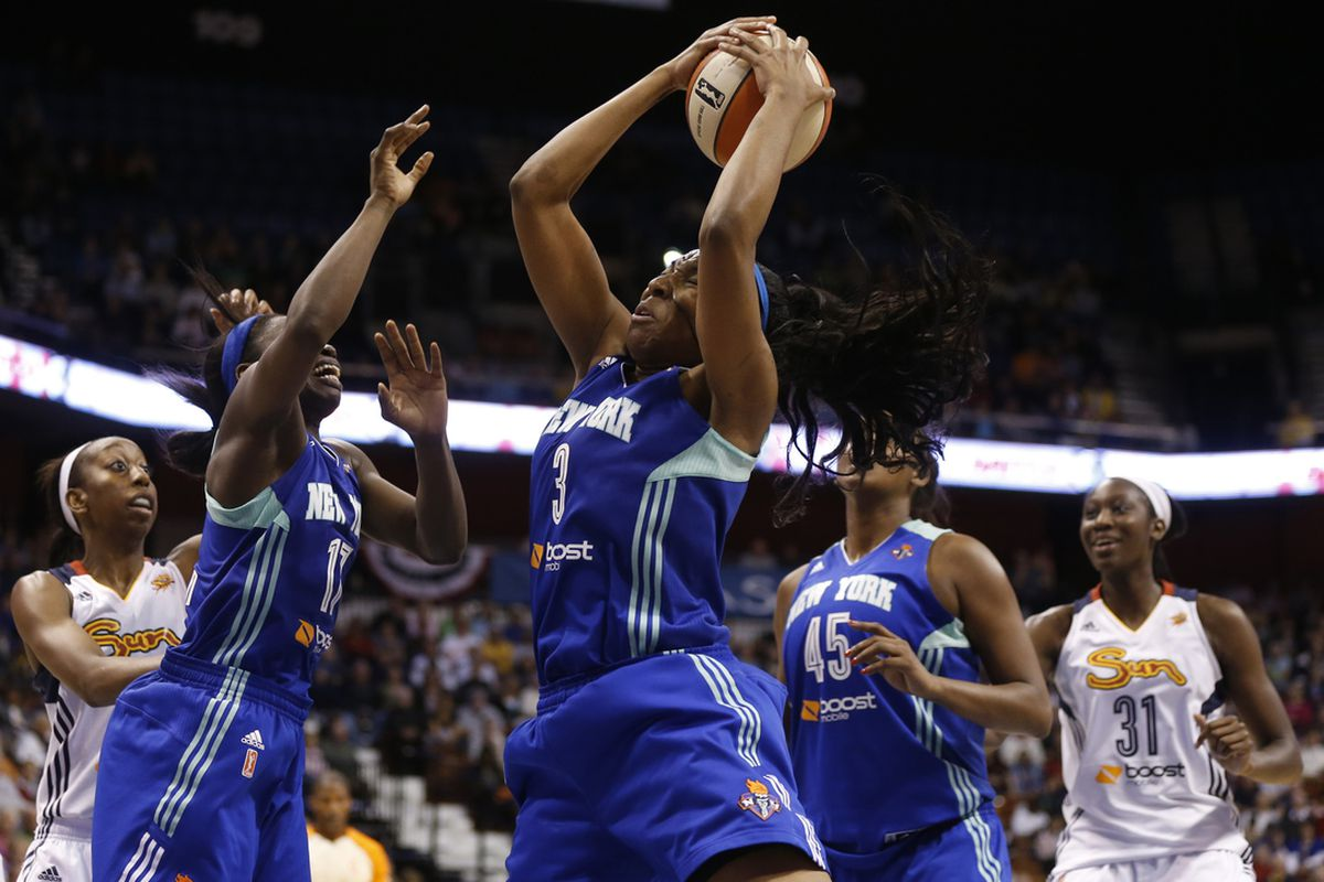 New York Liberty center Kelsey Bone's rebounding is a major reason for her dramatic improvement over the course of her rookie year.