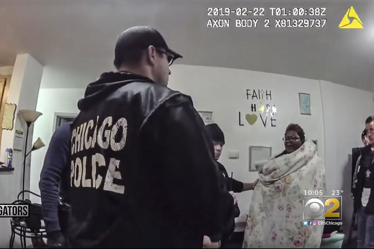 Police body camera video shows the raid on the home of Anjanette Young in February 2019.