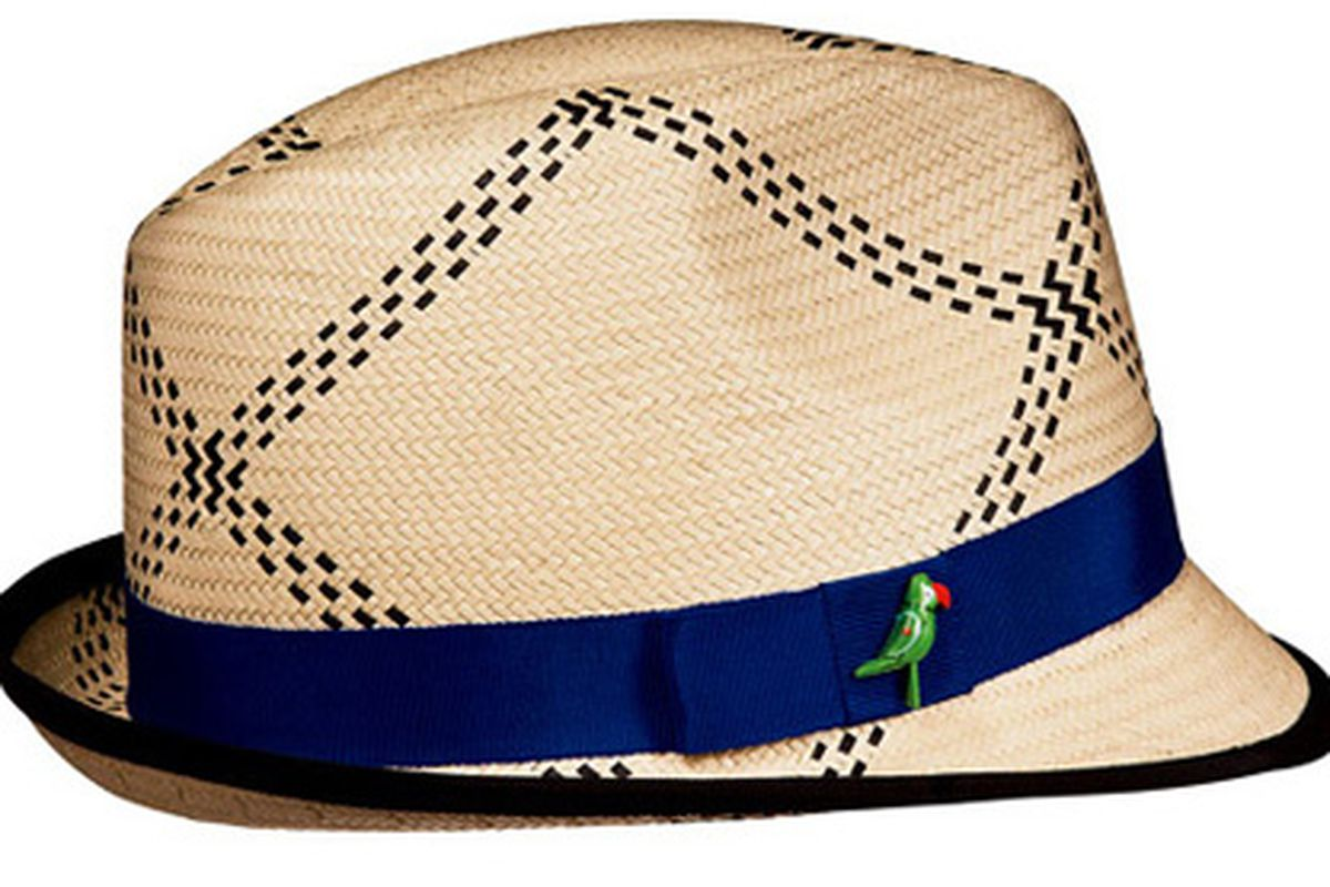 """Looking at this Eugenia Kim for Target hat makes us want to lay in a hammock and drink a blue umbrella drink, which isn't a bad thing at all. Image via <a href=""""http://www.nitrolicious.com/blog/2010/03/01/eugenia-kim-for-target-first-look/"""">Nitrolic"""