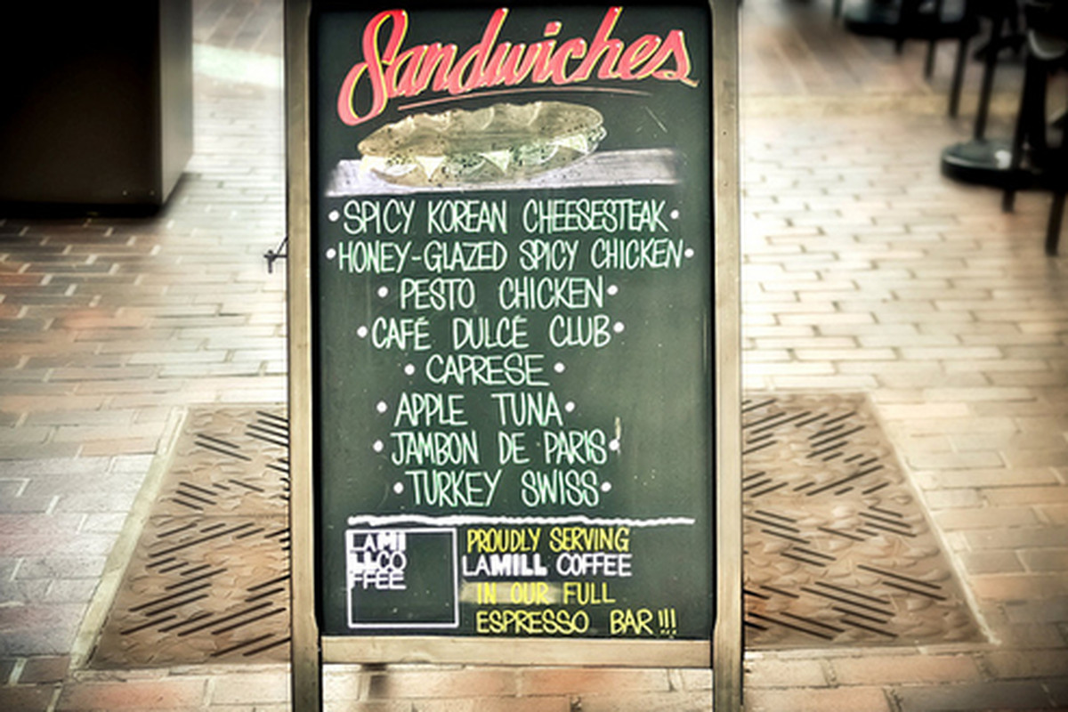 Board menu at Cafe Dulce, Little Tokyo.