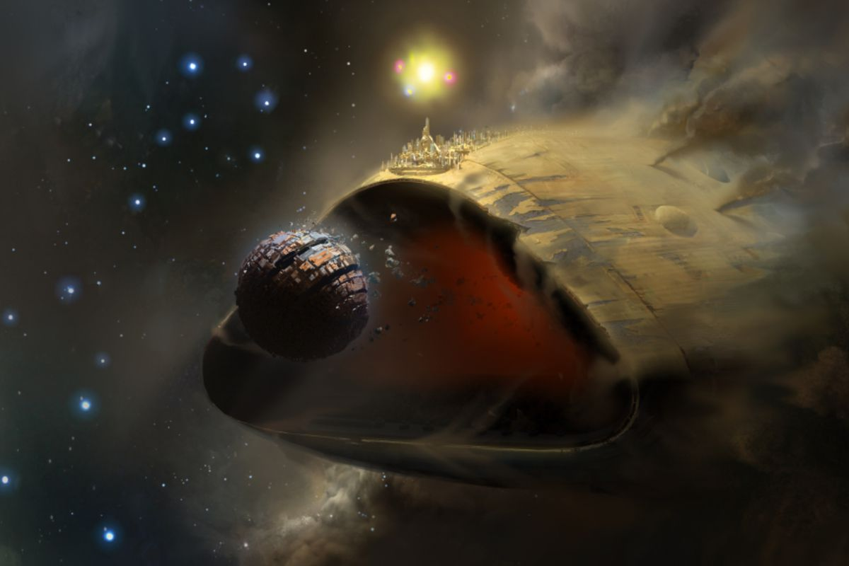 Destiny 2 - Leviathan in orbit