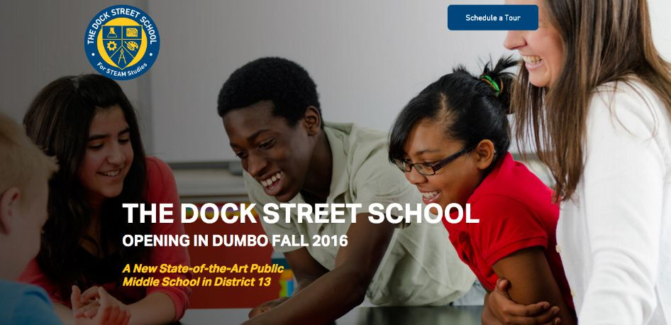 An image from the marketing website for The Dock Street School.