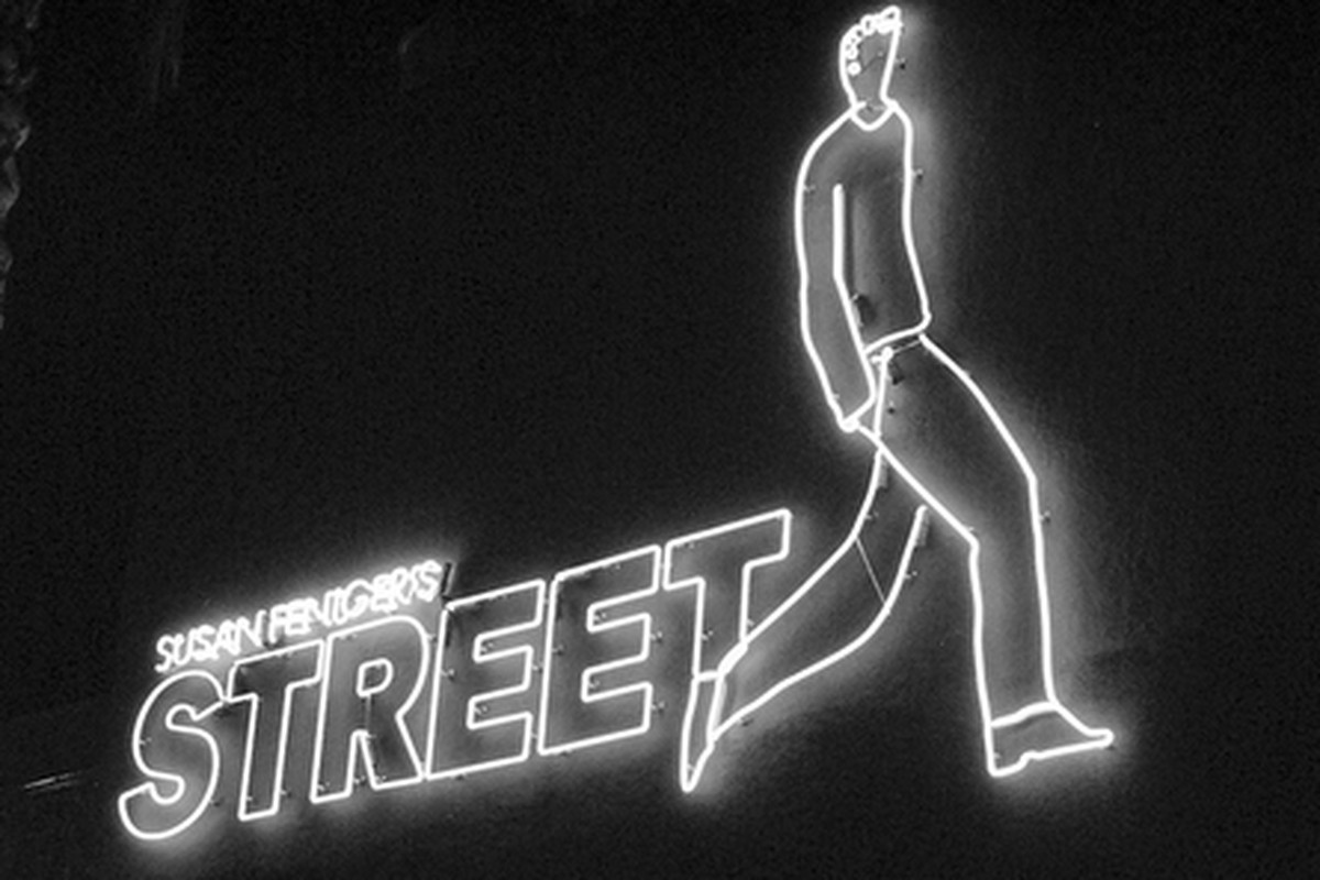 Outside Street, Hollywood.