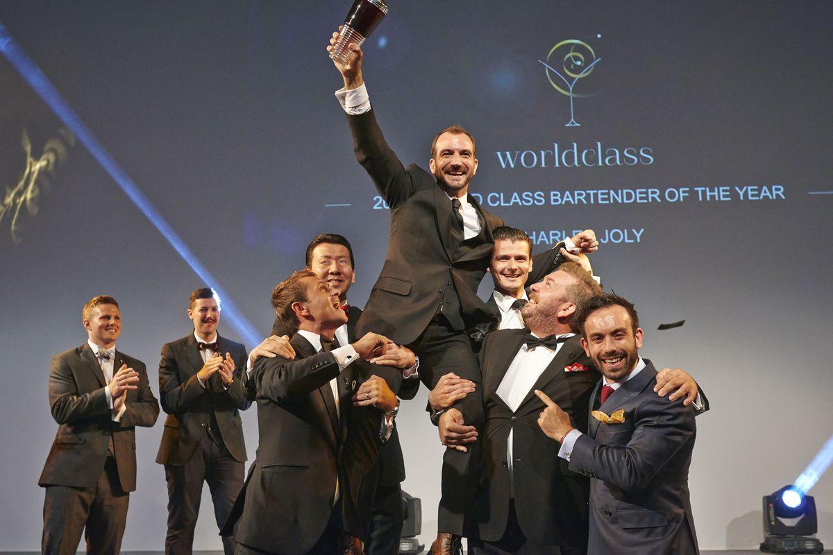 Joly winning World Class Bartender of the Year