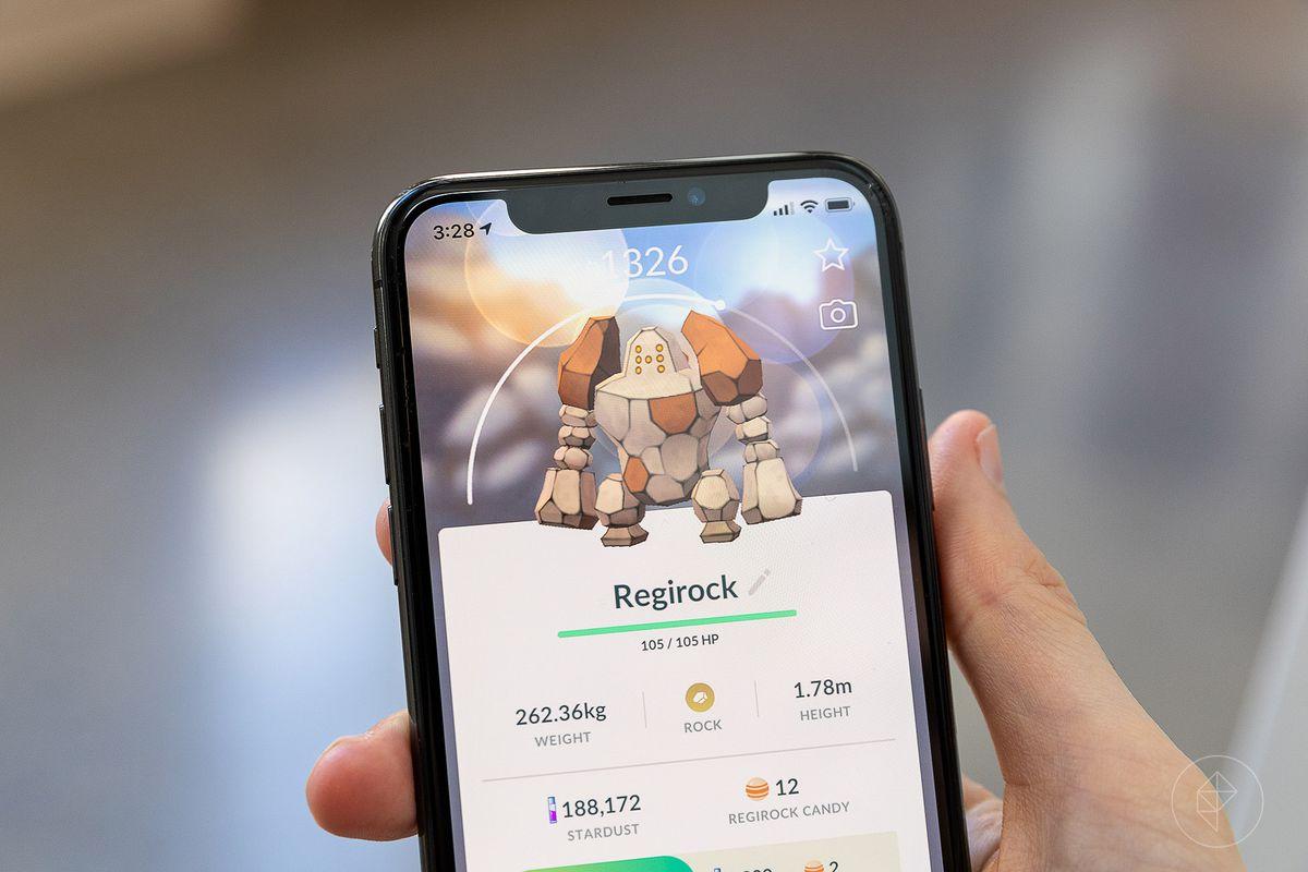 Regirock in Pokémon Go