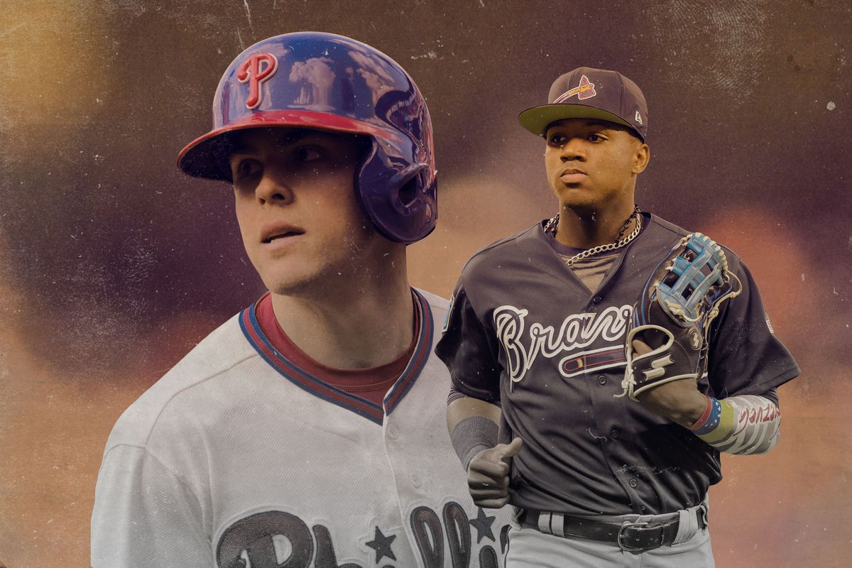 newest b4354 d3ba7 Getty Images Ringer illustration. You might see some of the best prospects  in baseball getting their big league ...