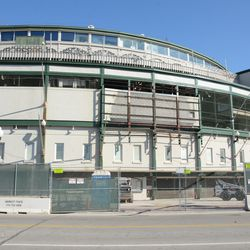 11:05 a.m. Another unobstructed view of the front of the ballpark -