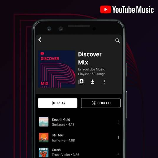 Youtube Music Gets Spotify Like Personalized Playlists The Verge