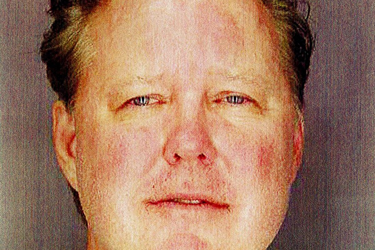 This undated photo provided by Sag Harbor Village Police Department on Monday Aug. 6, 2018, shows Brian France, chairman of NASCAR, taken after his arrest in New York's Hamptons for driving while intoxicated and criminal possession of oxycodone. (Sag Harb