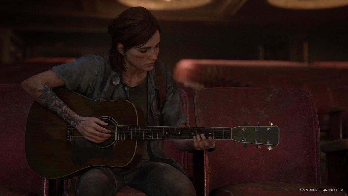 Ellie plays the guitar in The Last of Us Part 2