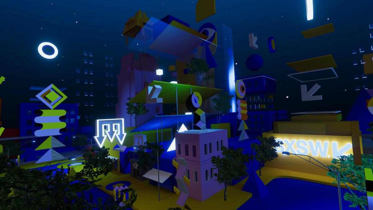 A virtual reality recreation of downtown Austin for SXSW